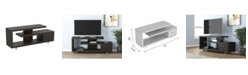 S&CO Safdie & Co. Tv Stand Staggered Concept One Drawer