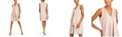 Anne Klein Draped Faux-Suede Shift Dress