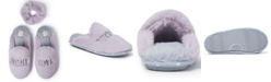 Dearfoams Women's Night Owl Scuff Slipper with Scrunchie, Online Only