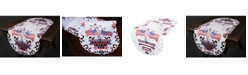 """Xia Home Fashions Star Spangled Embroidered Cutwork Table Runner, 15"""" x 34"""""""