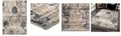 """Palmetto Living ORI423778 Riverstone Oxford Burst Cloud Gray 6'7"""" x 9'6""""  Area Rug"""