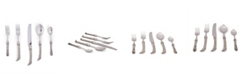 """Vagabond House 5-Piece Stainless Steel Flatware Setting """"Avian"""" with Solid Pewter Handles"""