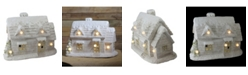 """Northlight 14.5"""" LED Lighted Musical Snowy Cottage Christmas Decoration"""