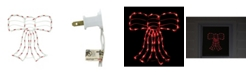 """Northlight 14"""" Lighted Red Bow Christmas Window Silhouette Decoration"""
