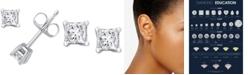 Macy's Diamond Princess Stud Earrings (1/4 ct. t.w.) in 14k White Gold