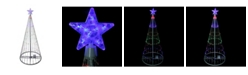 Northlight 4' Multi-Color LED Lighted Show Cone Christmas Tree Outdoor Decoration