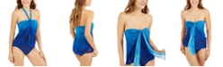 Lauren Ralph Lauren Ombré Palm Flyaway One-Piece Swimsuit