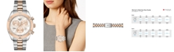Tissot Women's Swiss Chronograph T-Classic PR 100 Two-Tone PVD Stainless Steel Bracelet Watch 38mm