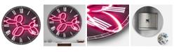 "Designart Balloon Dog Oversized Modern Wall Clock - 23"" x 23"" x 1"""