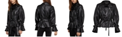 BCBGMAXAZRIA Faux-Leather Moto Jacket