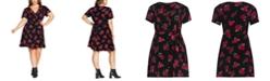 City Chic Trendy Plus Size Rosie Posie A-Line Dress