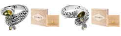 DEVATA Citrine (1 ct. t.w.) Sweet Dragonfly Classic Ring in Sterling Silver and 18k Yellow Gold Accents (Also Available in Peridot)