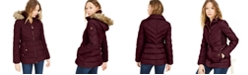 Michael Kors Hooded Faux-Fur-Trim Down Puffer Coat, Created for Macy's