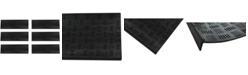 """Envelor Non-Slip Checker Rubber Stair Tread Mat, 12"""" x 36"""", 6 Pack"""