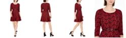 NY Collection Petite Printed Flounce-Hem Dress