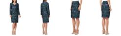 Tahari ASL Printed Pencil Skirt Suit