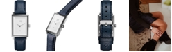 MVMT Women's Signature Square Aubrey Navy Leather Strap Watch 24mm