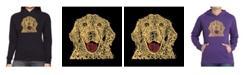 LA Pop Art Women's Word Art Hooded Sweatshirt -Dog