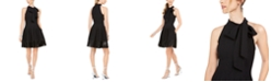 Vince Camuto Sequined-Hem Fit & Flare Dress