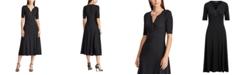 Lauren Ralph Lauren Shimmer Elbow-Length-Sleeve Waffle Dress