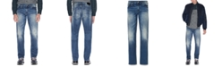 A X Armani Exchange Men's Straight-Fit Stretch Paint-Splatter Jeans