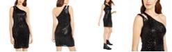 Teeze Me Juniors' One-Shoulder Sequin Dress