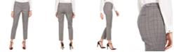 Calvin Klein Plaid Straight-Leg Pants