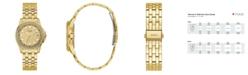 GUESS Women's Gold-Tone Stainless Steel Glitz Watch, 36mm