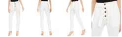 INC International Concepts INC Paperbag Tapered Ankle Pants, Created For Macy's