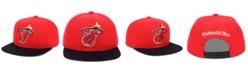 Mitchell & Ness Miami Heat 2 Tone Classic Snapback Cap