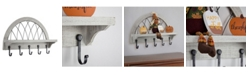 Crystal Art Gallery American Art Decor Rustic 5 Hook Wall Shelf Coat Rack