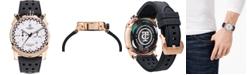 CT Scuderia Men's Swiss Chronograph Check Flag Black Silicone Strap Watch 44mm