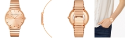 Rebecca Minkoff Women's Major Rose Gold-Tone Stainless Steel Bracelet Watch 40mm