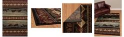 "Asbury Looms Designer Contours Cem Native Landscape 511 27766 69 Brown 5'3"" x 7'6"" Area Rug"