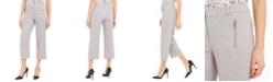Calvin Klein Zipper-Pocket Cropped Twill Pants