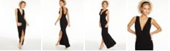 B Darlin Juniors' Deep-V Open-Back Dress