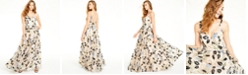 Say Yes to the Prom Juniors' Sequin-Trim Embroidered Gown, Created for Macy's