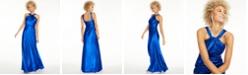 Calvin Klein Twisted Halter Gown