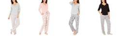 Charter Club Ribbed Pajama Top & Super Cozy Printed Pajama Pants Separates, Created For Macy's