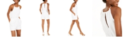INC International Concepts INC Cotton Halter-Neck Romper, Created For Macy's