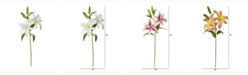 Nearly Natural 31in. Rubrum Lily Artificial Flower Set of 3