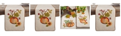Saro Lifestyle Embroidered Pumpkin Floral Thanksgiving Table Runner