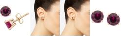 Macy's Ruby Stud Earrings (1 ct. t.w.) in 14k Gold (Also in Sapphire & Emerald)