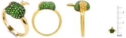 Macy's Tsavorite (1-1/4 ct. t.w.) and Yellow Sapphire (1/10 ct. t.w.) Apple Ring in 14K Gold