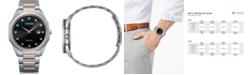 Citizen Eco-Drive Men's Corso Diamond-Accent Two-Tone Stainless Steel Bracelet Watch 41mm