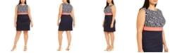 Connected Plus Size Crepe Sheath Dress