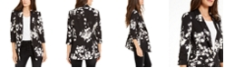 INC International Concepts INC Floral-Print Kiss-Front Blazer, Created For Macy's