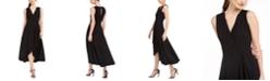 Calvin Klein Petite Gauze Surplus Maxi Dress