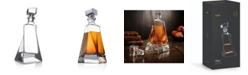 JoyJolt Atlas Crystal Whiskey Decanter, 22 Oz