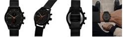 MVMT Men's Chronograph Caviar Black Stainless Steel Mesh Bracelet Watch 42mm